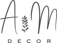 AM Decor – dekoracje, florystyka Logo
